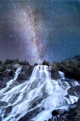 mily way of stars